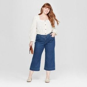 Universal Thread High-Rise Wide Leg Cropped Jeans